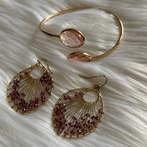 Francesca's earring and bracelet set
